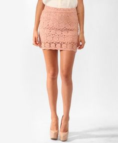 Forever 21: Short Crochet Skirt only $19.80 ... I could probably wear this to my cousins wedding this weekend