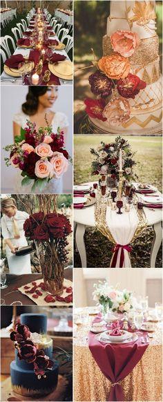 Burgundy and Rose Gold Wedding Theme intended for Wedding Ideas - Wedding Ideas MakeIt<br> Gold Wedding Theme, Star Wedding, Rose Wedding, Wedding Themes, Wedding Ideas, Dream Wedding, Wedding Planning, Wedding Inspiration, Elegant Wedding