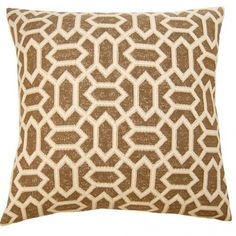 Decorative pillow with luxurious velvet in brown color and diamond pattern.  Plump down/feather insert.  Free shipping.