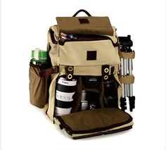 'Outdoor Climbing Leather backpack/multifunction bag/Leather DSLR Camera Bags/Travel Bag/Laptop Bag/Camera Bags/Nikon Cannon Camera bag