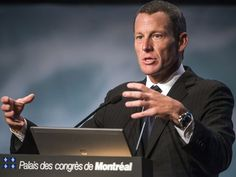 Lance Armstrong introduces himself as seven-time Tour de Francechampion. Well, he WON them...