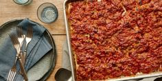 Cooking meatloaf in a sheet pan cuts down the cooking time dramatically, making this a perfect weeknight dinner. Shaping it thin and flat ensures that you get enough sticky-sweet glaze in every bite.