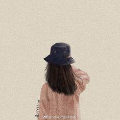 Cute Emoji Wallpaper, Girl Wallpaper, Aesthetic Drawing, Aesthetic Girl, Cool Paper Crafts, Cute Easy Drawings, Girl Short Hair, Only Girl, Illustration Girl