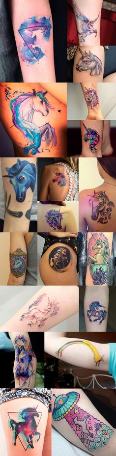 tattoos-unicornio-coloridas