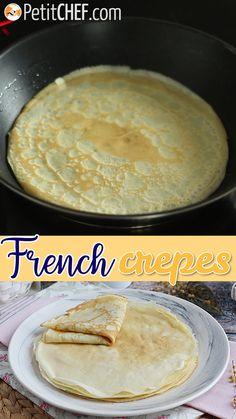 Baking Recipes, Dessert Recipes, Crepe Recipes, Brunch Recipes, French Crepes, French Toast, Sweet Crepes Recipe, Chocolate Spread, Sweet Recipes