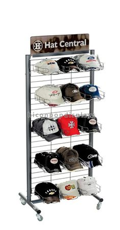 Grid metal cap display rack in 5-layer   from HICON POP DISPLAYS LIMITED