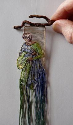 y lace & wood - Ágnes Herczeg Art Fibres Textiles, Textile Fiber Art, Weaving Textiles, Weaving Art, Tapestry Weaving, Loom Weaving, Textile Artists, Lace Art, Weaving Projects