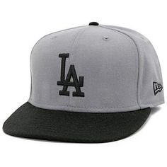 MLB Los Angeles Dodgers MLB Basic Stm/Gry 59Fifty by New Era. $28.95. Wool/Acrylic. 100% Wool Acrylic. This Custom Storm Gray And Black 59Fifty® Fitted Cap Features An Embroidered (Raised) Los Angeles Dodgers Team Logo At Front, Stitched New Era® Flag At Wearer'S Left Side, And Embroidered Major League Baseball Batterman® Logo On The Rear. Interior Includes Branded Taping And A Moisture Absorbing Sweatband.