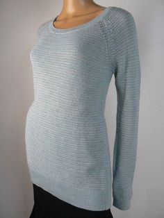 dffe27e7cb7 Details about New-Size Medium-Ann Taylor LOFT-Womens Sweater Tank Top-Blue-Ribbed-Round  Neck
