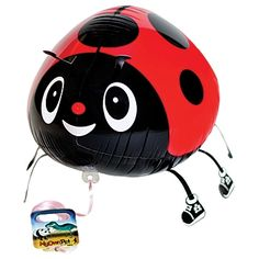 My Own Pet Lady Bug Balloon is a whimsical ladybug in red & black wearing high top black & white tennis shoes. Each helium inflatable Ladybug Air Walker Balloon measures 11 inches high x 10 inches wide x 14 inches long.