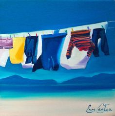 Washing Lines, Laundry Art, Clothes Lines, Glasgow School Of Art, Art Forms, Colored Pencils, Images, Sculptures, Illustration Art