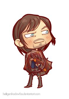 Commission: The Walking Chibi Dead #Daryl Dixon by HeiligerShadowfax