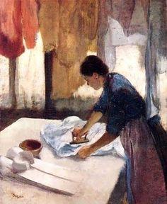 1887 Edgar Degas (French painter, 1834–1917) Woman Ironing