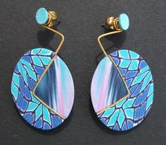 Examples of earrings made in Polymer Clay by Fiona Abel-Smith