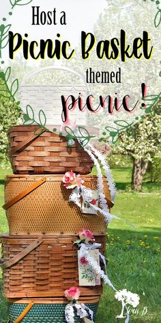 Host a picnic basket-themed picnic for summertime fun! A great way to enjoy your vintage-inspired treasures! Picnic Decorations, Summer Party Decorations, Basket Decoration, Picnic Decorating Ideas, Cabin Decorating, Picnic Gift Basket, Vintage Picnic Basket, Picnic Baskets, Picnic Theme