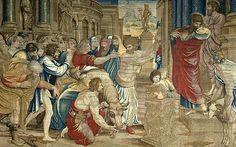 Arazzo di Raffaello,sacrificio di listra Musei Vaticani,Rome