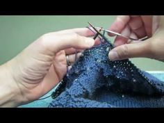 How to add beads to a knitted project using a crochet hook. This video is posted for the After Hours Shawl KAL from Knitters Brewing Company