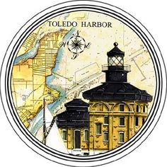 Toledo Harbour Lighthouse, OH Set of 4 Coasters
