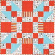 Go Baby! (40″ x 40″) from the Jan/Feb '13 issue of Quiltmaker. Fabric: Peak Hour by Kellie Wulfsohn of Don't Look Now! for Riley Blake Designs.