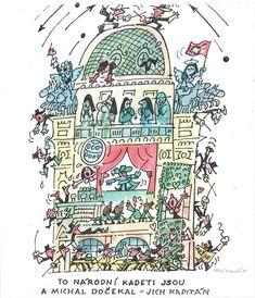Fotogalerie: Kreslíř a herec Miloš Nesvadba Illustrators, Taj Mahal, Travel, Viajes, Illustrator, Destinations, Traveling, Trips, Illustrations