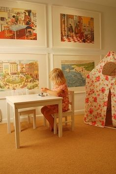 love these big pictures for the playroom