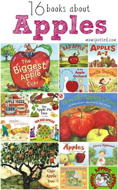 With all the apples about to be ready for picking I thought I would put together a fun round up of some great books about apples for kids for you to buy or borrow from your local library.