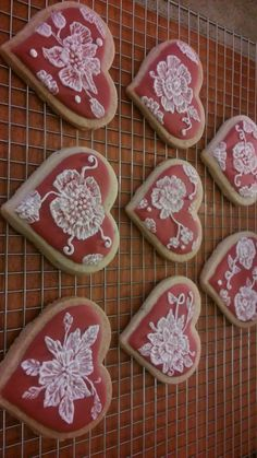 """ Brush Embroidery"", on Lavender Shortbread"