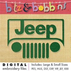 Jeep Digital Embroidery Design by bitzandbobbins on Etsy