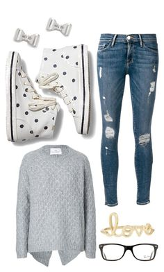 """""""Untitled #17"""" by devynbarton on Polyvore featuring Keds, Frame Denim, DAY Birger et Mikkelsen, Sydney Evan, Ray-Ban and Marc by Marc Jacobs"""