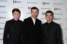 Anton Yelchin, Kris Van Assche and Kevin Jonas in Dior Homme.