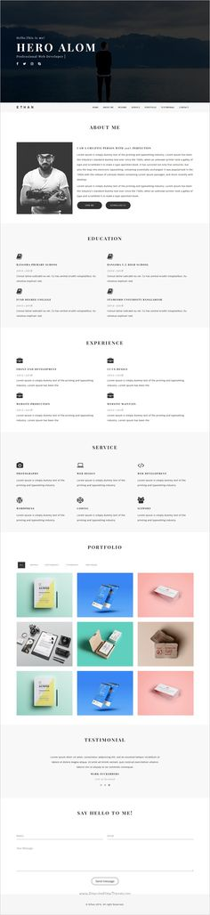 Sciento u2014 HTML Personal Page for Scientists Template for resume - template for first resume