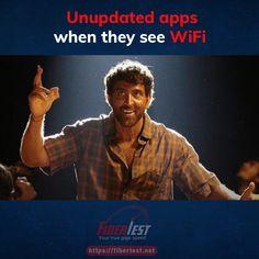 Are your apps are updated? #mobileapp #fiberinternet #friyaay #meme #fibertest Internet Speed Test, Fiber Internet, Apps, Meme, App, Memes, Appliques