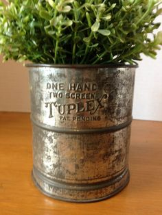 Antique Tuppex Two Screen Flour Sifter