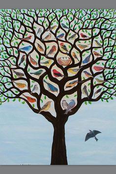 Mostly, but not limited to, nature-themed art and illustration. Header image by Jahna Vashti. Art And Illustration, Pretty Birds, Beautiful Birds, Frida Art, Inspiration Art, Grafik Design, Oeuvre D'art, Folk Art, Art Projects