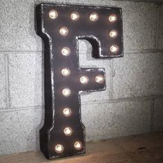Custom 21 Black Letter F Vintage Marquee Signs