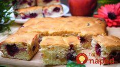 Naučte sa túto výbornú piškótu z kyslej smotany a ku klasickej bublanine sa už nevrátite: 7 minút na cesto + čas pečenia! Fruit Sponge Cake, Sweetly Cake, Sweet Cooking, Cake Business, Pastry Cake, Spanakopita, Thing 1, Zucchini, Tart
