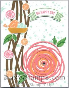 Stampin' Up! Cards - Swirly Bird and Thoughtful Banners stamp sets, Swirly Scribbles Thinlits Dies, Duet Banner Punch