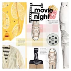 """""""Bring the Popcorn: Movie Night"""" by barbarela11 ❤ liked on Polyvore featuring J.Crew, Converse, H&M, Rebecca Minkoff, Fall, movieNight and polyvoreeditorial"""