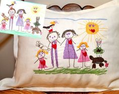 Children's Drawings - Embroidery