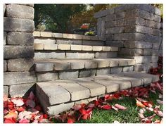 Front yard, paver steps and columns