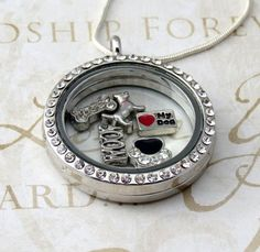 Floating Living Locket / Charm Locket - build your own memories one charm at a time.