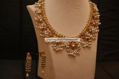 Gutta pusalu Necklace with pearls paired with trendy Earrings