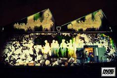 Video mapping by Cliché Video for Paris Rockin' Festival (March 22nd 2014 - Lanificio, Roma)