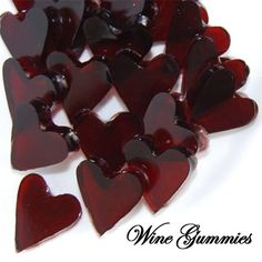 Wine Gummies - In a saucepan, warm 1c of wine on low heat. Add a total of 4tbsp of gelatin one tbsp at a time, stirring well before adding more. After the gelatin has completely dissolved, add 3tbsp maple syrup.  Once your mixture is ready, spoon into a heart shaped mold and refrigerate to set (at least 2-3 hours).