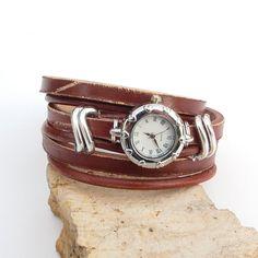 Womens leather watch Wrist watch for women Rustic by Jullyet, $33.00