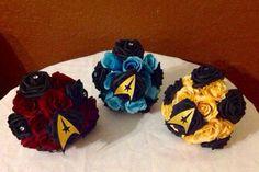 Star Trek Fantasy mini bridesmaid bouquet by BarbrasBouquets on Etsy Star Trek Wedding, Geek Wedding, Budget Wedding, Dream Wedding, Wedding Ideas, Star Trek Party, Trek Deck, Geek Party, Space Wedding