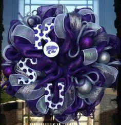 Kansas State Wildcats deco mesh Wreath.. LOVE!!!!