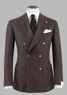 British Style — laragosta: Lubiam F/W Strong. Mens Tailored Suits, Mens Suits, Sharp Dressed Man, Well Dressed Men, Double Breasted Suit Men, Suit Combinations, Brown Suits, La Mode Masculine, Dapper Men