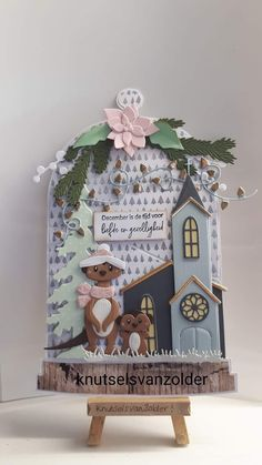 Marianne Design, Animal Cards, Card Sketches, Stencils, Christmas Cards, Decorative Boxes, December, Clock, Stamp