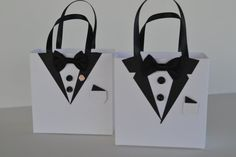 Tuxedo party favor gift bag by steppnout on Etsy, $3.00